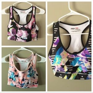 🆕 BUNDLE of 3 FILA Running Sports Bras